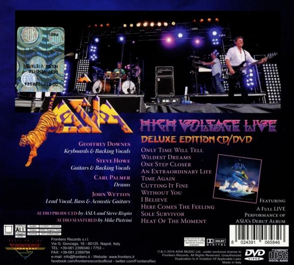 ASIA - High Voltage - Ltd.CD+DVD-Digipak