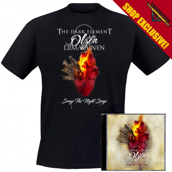 THE DARK ELEMENT - Songs The Night Sings - Ltd. Bundle: CD + TS-M-XL - Exclusive !