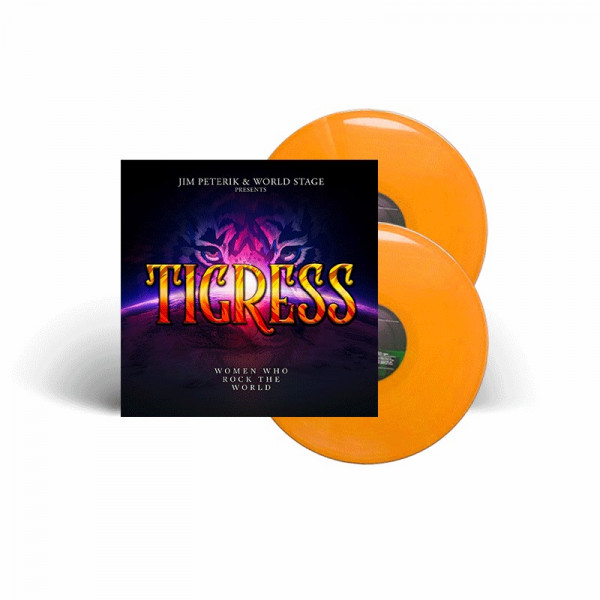 JIM PETERIK & WORLD STAGE - Tigress - Women Who Rock The World - Ltd. Gatefold ORANGE 2-LP
