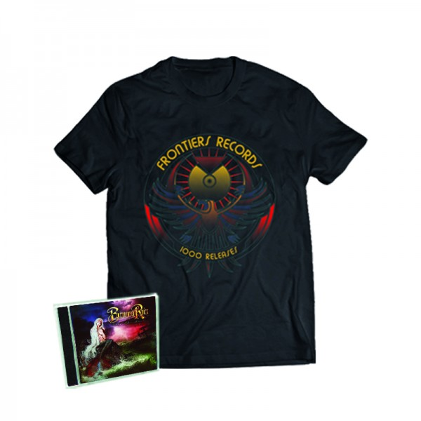 """1000 Releases"" T-Shirt + BURNING RAIN - Face The Music - CD - Ltd.Bundle T-shirt S-XL"