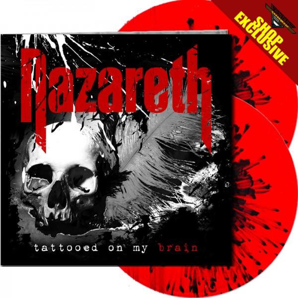 NAZARETH - Tattooed On My Brain - LTD Gatefold TRANS RED/BLACK SPLATTER 2-LP, 180g - SHOP EXCLUSIVE