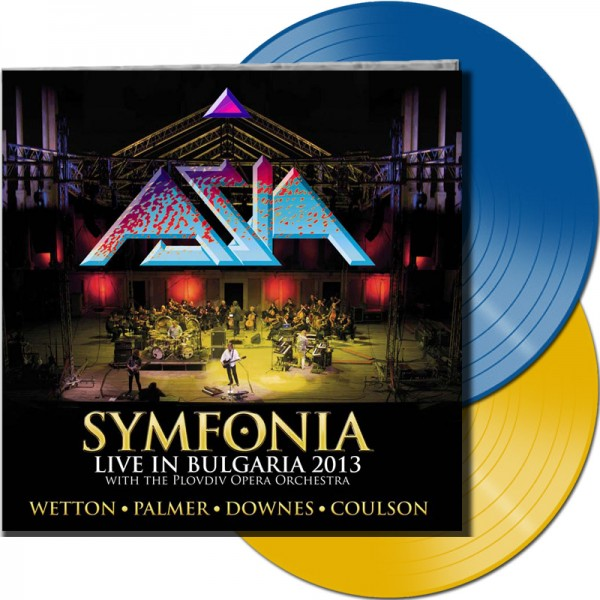 ASIA - Symfonia - Live In Bulgaria 2013 (LTD. Gatefold / Blue and Yellow Transparent 2 Vinyl / 180 G