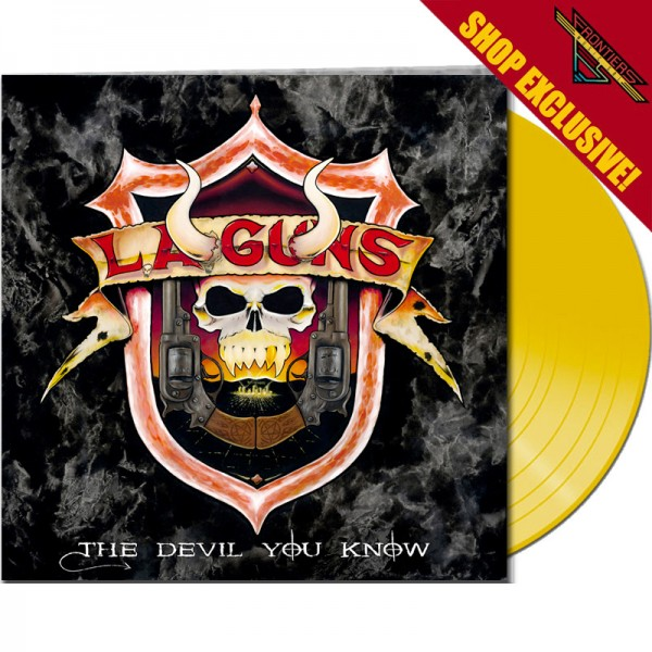 L.A. GUNS - The Devil You Know - LTD Gatefold YELLOW Vinyl, 180 Gram - Shop Exclusive !