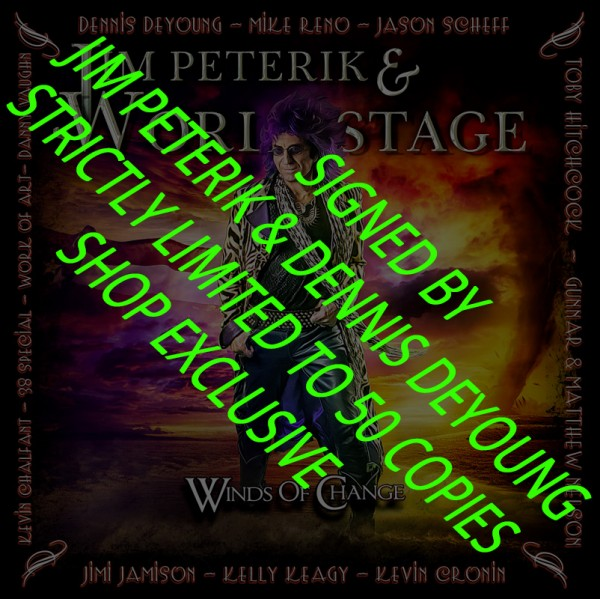 JIM PETERIK & WORLD STAGE - Winds Of Change - CD Jewelcase - LTD. SIGNED EDITION - SHOP EXCLUSIVE!